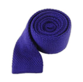 Knit Solid Wool Royal Purple Ties