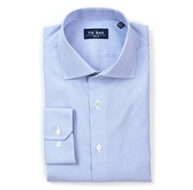 Blue Micro Stripe non-iron dress shirt