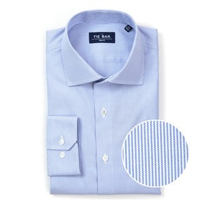 micro stripe blue non-iron dress shirt