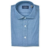 Dress Shirts - Chambray Shirt - Indigo