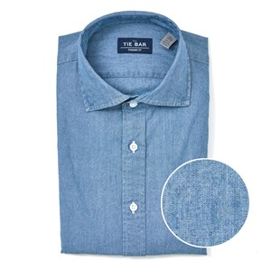 chambray indigo dress shirt