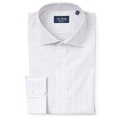 Dress Shirts - Classic Check Non-Iron Shirt - Purple