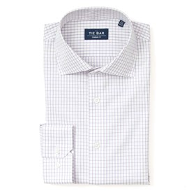 Purple Classic Check non-iron dress shirt