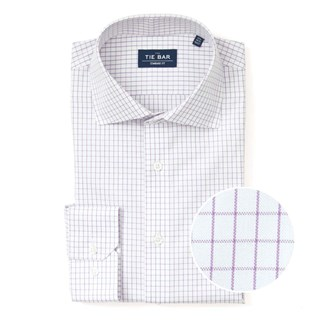 Classic Check Purple Non-Iron Dress Shirt