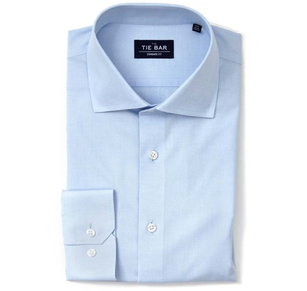Pinpoint Solid Light Blue Non-Iron Shirt