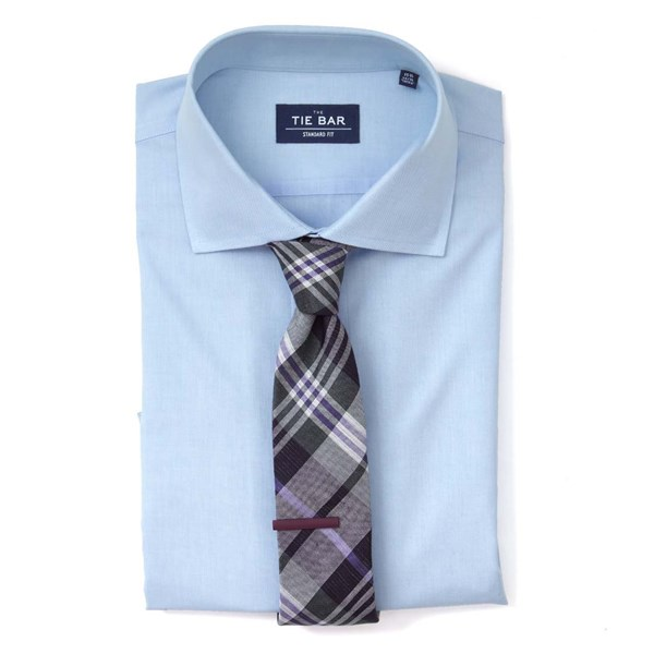Light Blue Pinpoint Solid Non-Iron Shirt