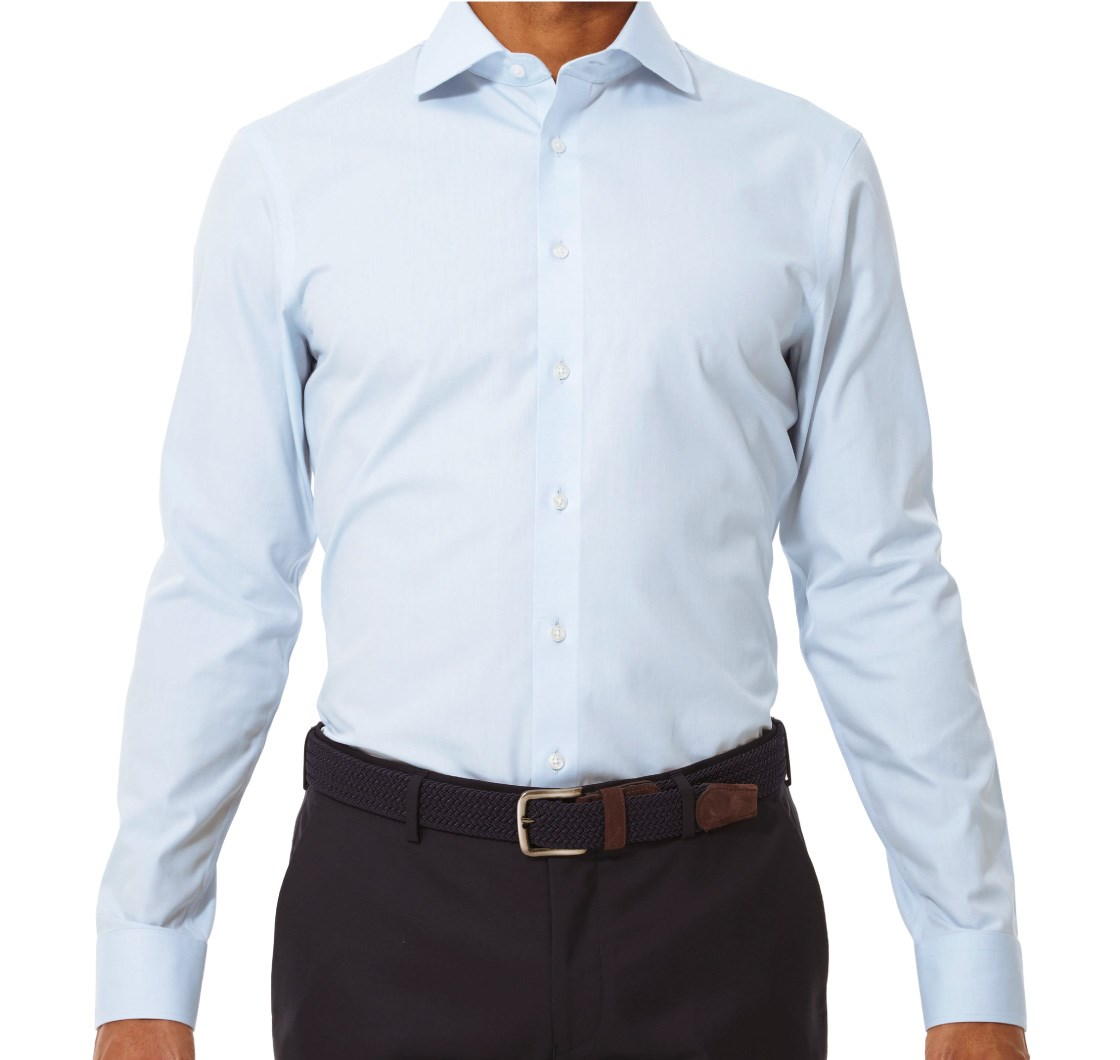 Pinpoint Solid Non-Iron Shirt Dress Shirts - Light Blue | Ties ...