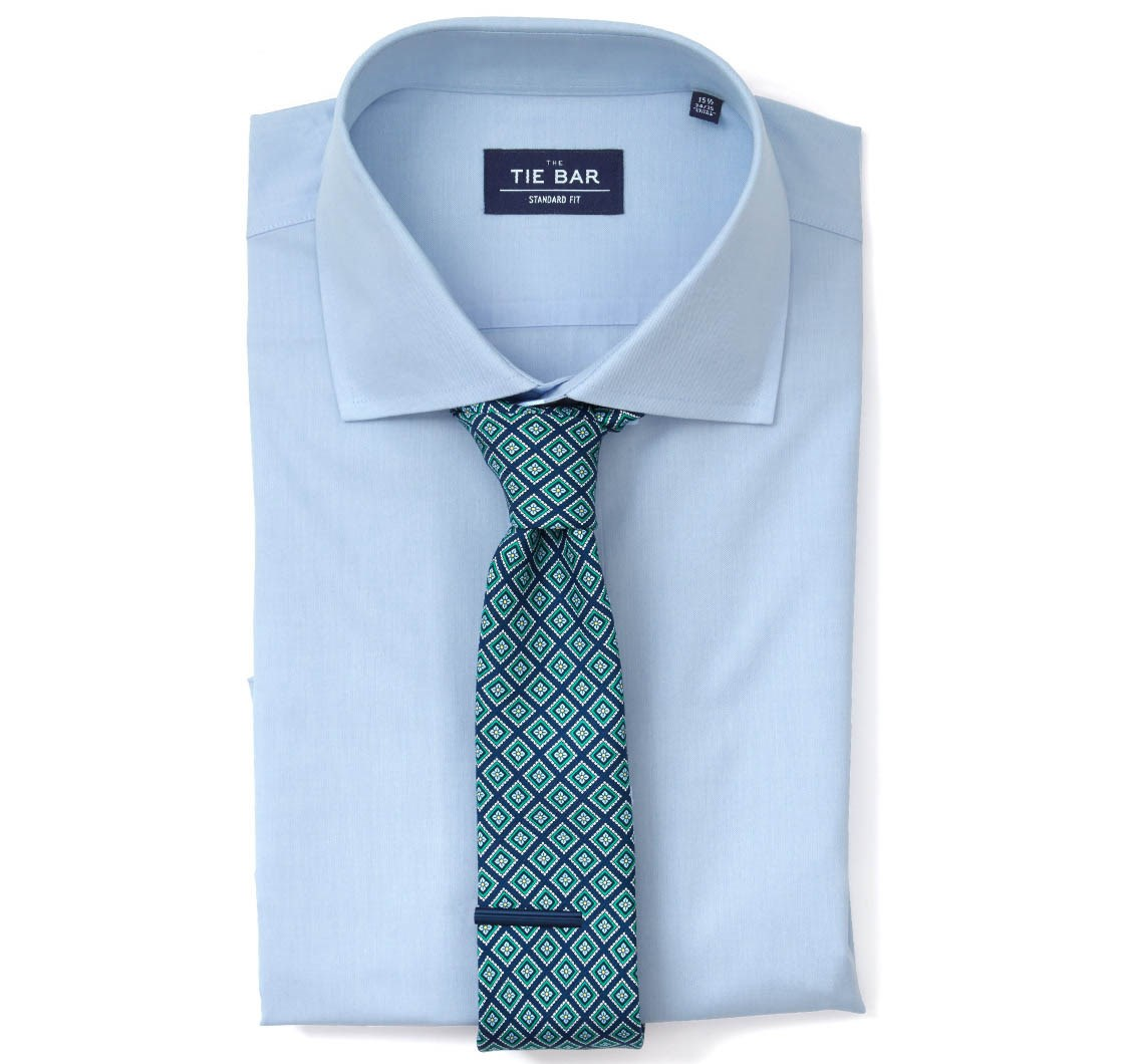 Pinpoint Solid Dress Shirt - Light Blue | Ties, Bow Ties, and ...