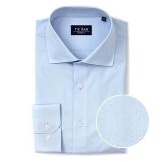 Pinpoint Solid Light Blue Non-Iron Dress Shirt