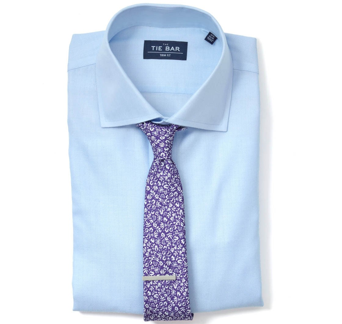 Light blue herringbone shirt ties bow ties and pocket for Matching ties with shirts