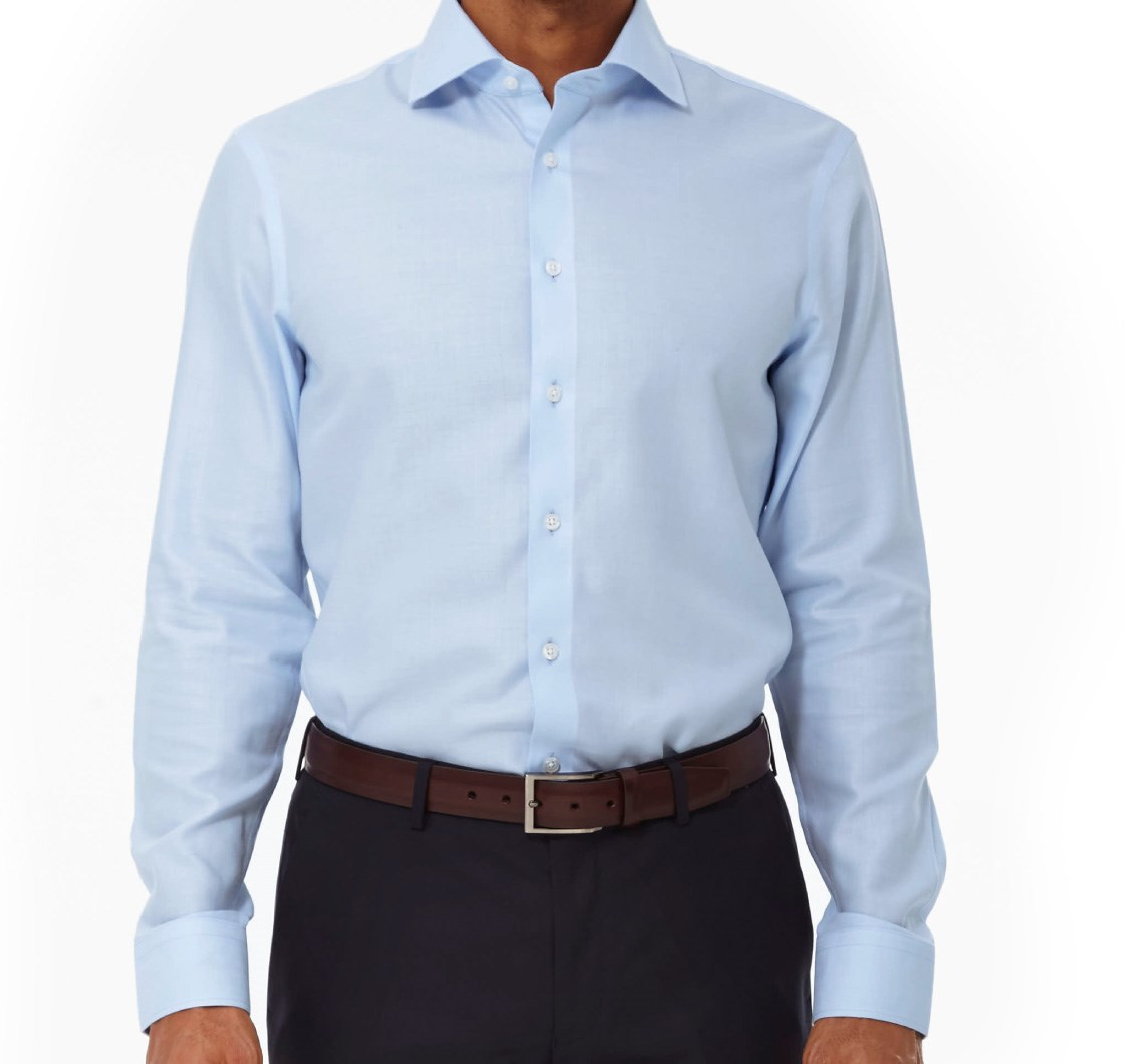 Herringbone Dress Shirt - Light Blue | Ties, Bow Ties, and Pocket ...