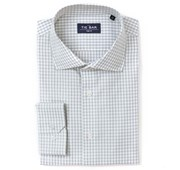 Dress Shirts - Gingham Non-Iron Shirt - Grey