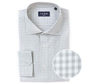 "Gingham - Grey - Standard 14.5"" x 32/33"" - Shirts"