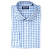 Dress Shirts - Classic Gingham Non-Iron Shirt - Sky Blue