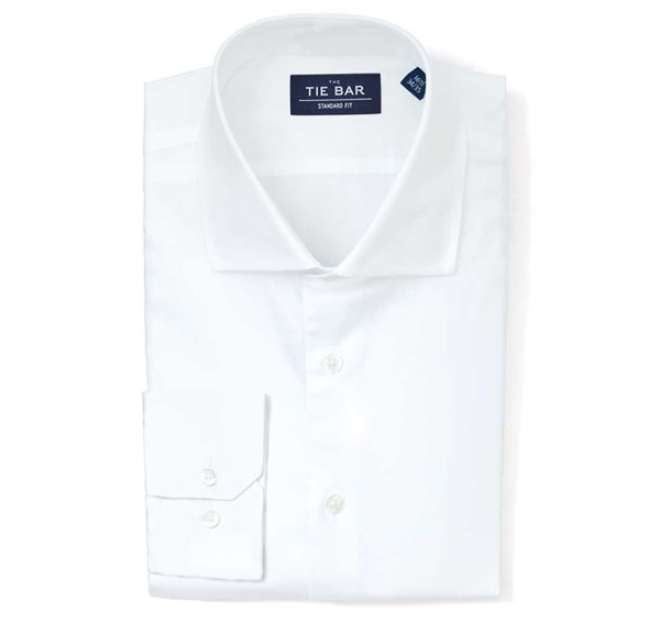 Pinpoint Solid White Non-Iron Shirt
