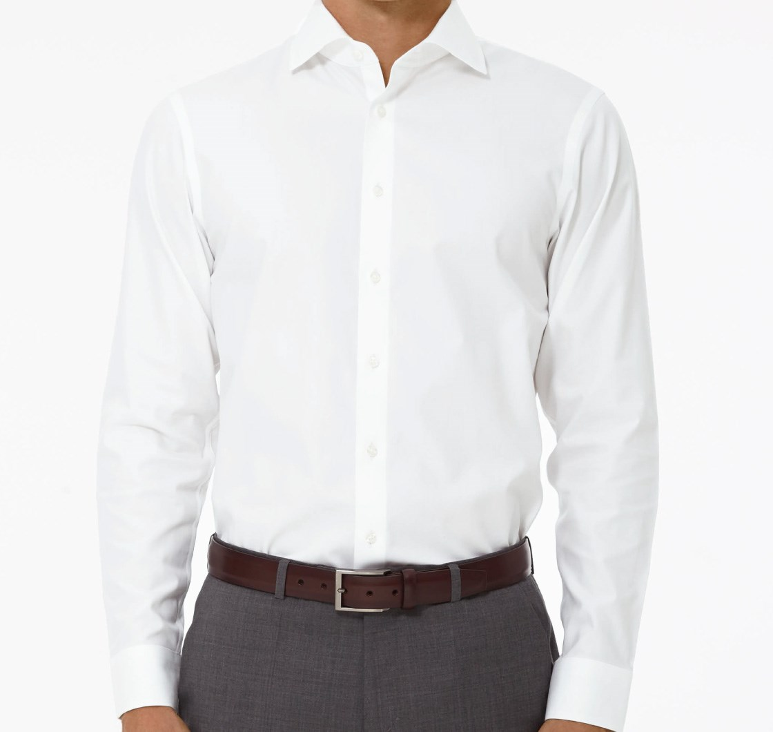 Pinpoint Solid Dress Shirt - White | Ties, Bow Ties, and Pocket ...