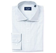 Dress Shirts - Tattersall Non-Iron Shirt - White