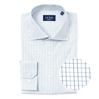 Tattersall Blue Non-Iron Dress Shirt