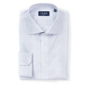 Purple Tattersall non-iron dress shirt