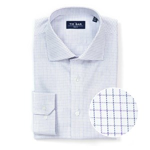tattersall purple non-iron dress shirt