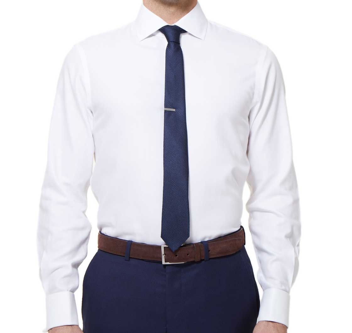 herringbone cuff dress shirt white ties bow