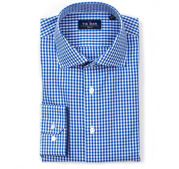 Gingham Classic Blue Non-Iron Shirt