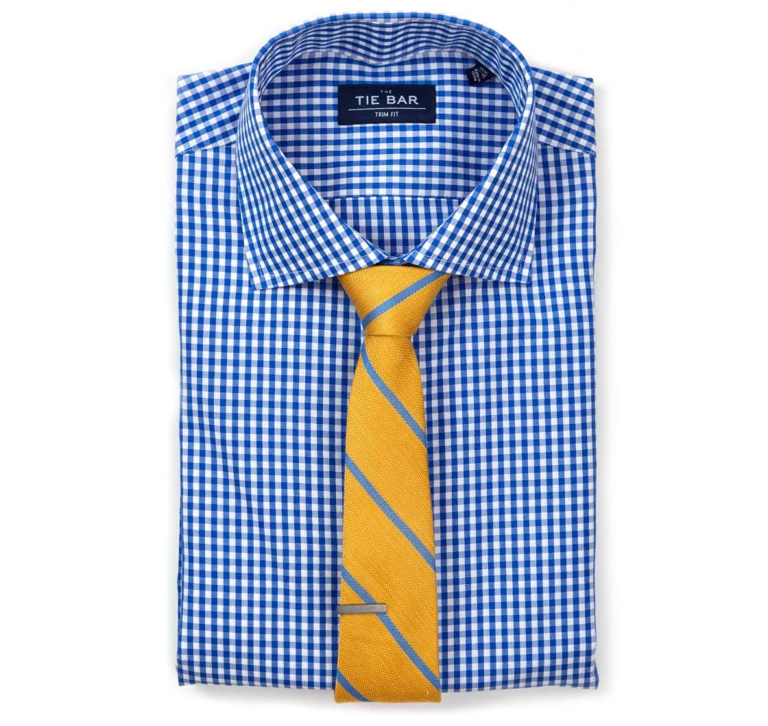 Yellow dress shirt and what color tie