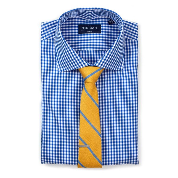 Classic Blue Gingham Non-Iron Shirt