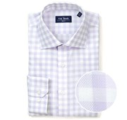 "Large Gingham Textured - Lavender - Standard 14.5"" x 32/33"" - Shirts"