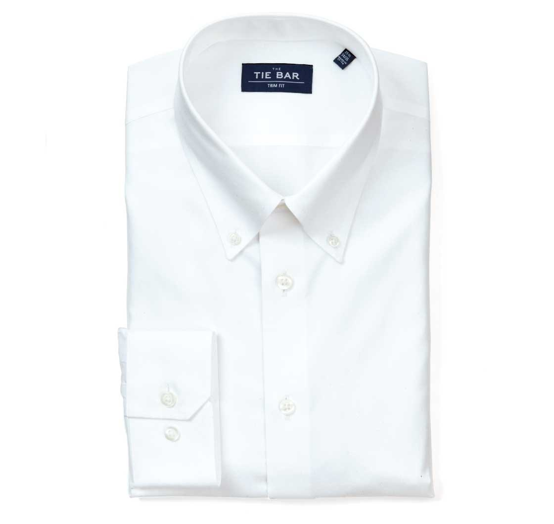91314b62f44 ... White Pinpoint Solid - Button-Down Collar Shirt - White Pinpoint Solid  - Button- ...