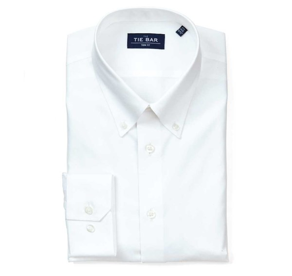 Pinpoint Solid - Button-Down Collar White Non-Iron Shirt
