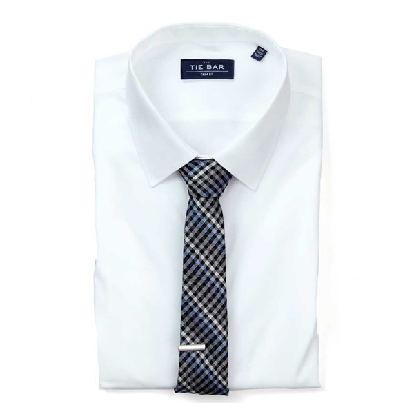 White Pinpoint Solid - Point Collar Non-Iron Shirt