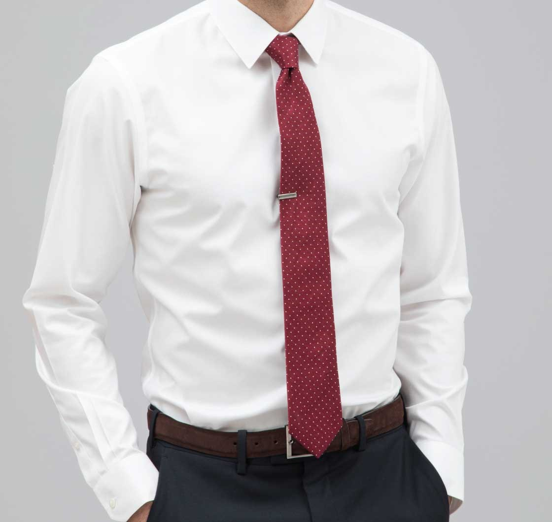Pinpoint Solid - Point Collar Dress Shirt - White | Ties, Bow Ties ...