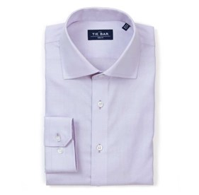 Textured Solid Lavender Dress Shirt