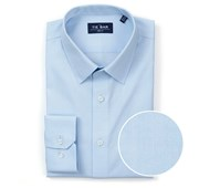 "Pinpoint Solid - Point Collar - Light Blue - Standard 14.5"" x 32/33"" - Shirts"