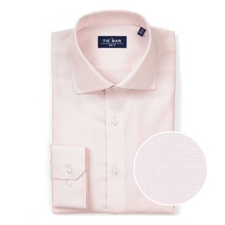 Textured Solid Light Pink Non-Iron Dress Shirt