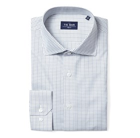 Green Tattersall non-iron dress shirt