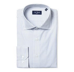 Blue Classic Check non-iron dress shirt