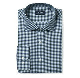Multi Tone Gingham Green Dress Shirt