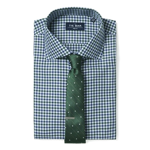 Green Multi Tone Gingham Non-Iron Shirt