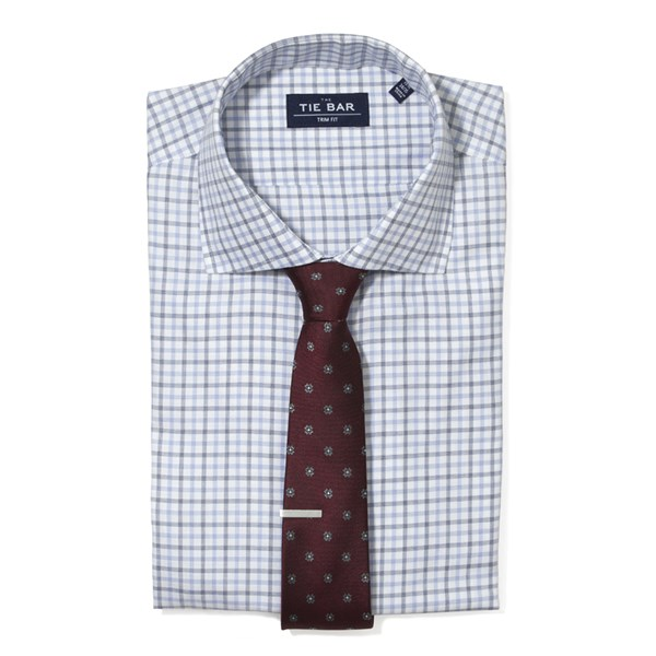 Blue Large Two Color Check Non-Iron Shirt