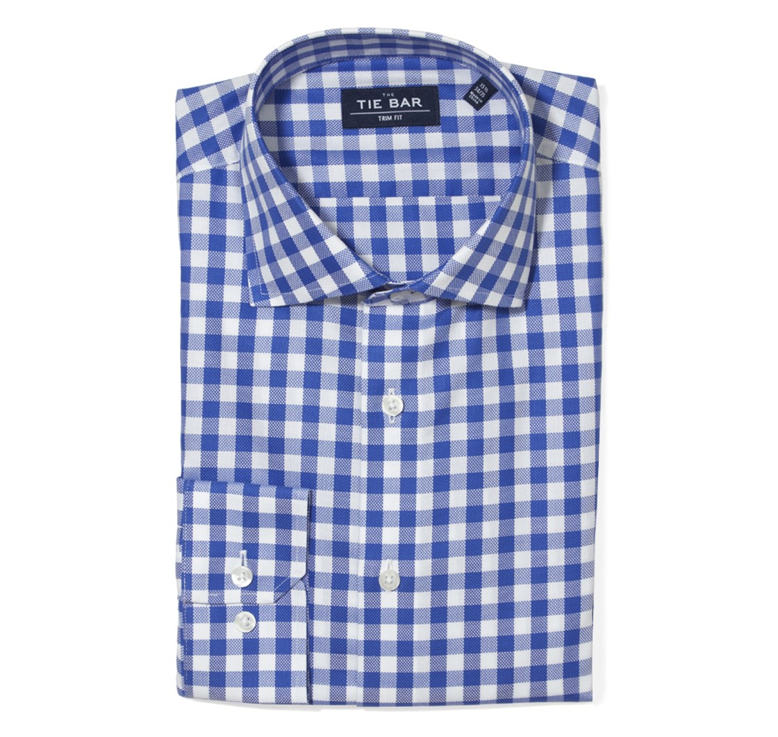 Mens Gingham Checked Dress Shirts The Tie Bar
