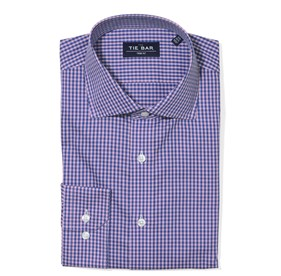 Two Tone Gingham Pink Dress Shirt