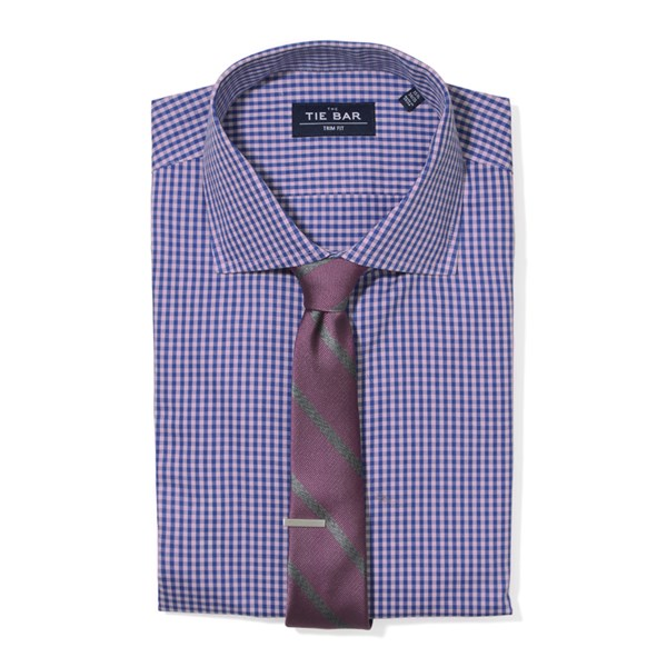 Pink Two Tone Gingham Non-Iron Shirt