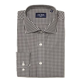 Black Gingham non-iron dress shirt