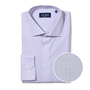 summer solid lavender non-iron dress shirt
