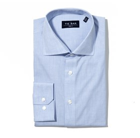 Blue Summer Solid non-iron dress shirt