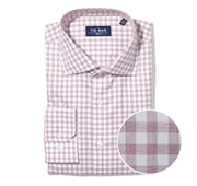 "Heathered Gingham - Washed Burgundy - Trim 16"" x 32/33"" - Shirts"