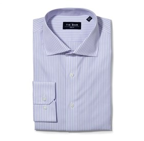 Lavender Double Stripe non-iron dress shirt