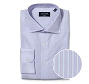 "Double Stripe - Lavender - Trim 15.5"" x 34/35"" - Shirts"